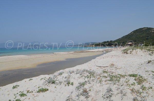 Mare e Sole beach in Pietrosella in Corsica