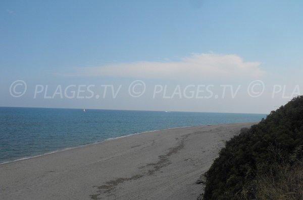 Plage de Mare e Stagnu à Aléria - Corse