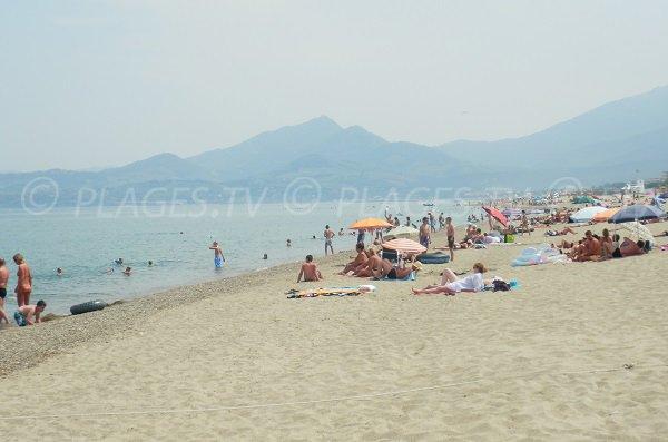 Marenda beach in Argelès sur Mer in France