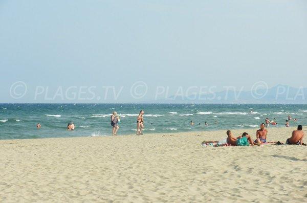 Marenda beach in Canet-Plage in summer