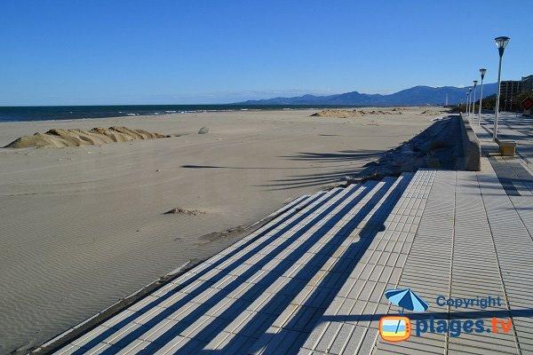 Marenda beach in Canet en Roussillon