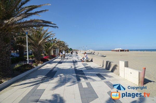 lungomare pedonale della spiaggia Marenda - Canet-Plage