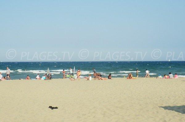 Marenda beach in Canet en Roussillon - France