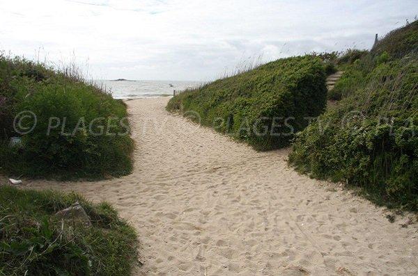Accès à la plage de Maresclé à Pénestin