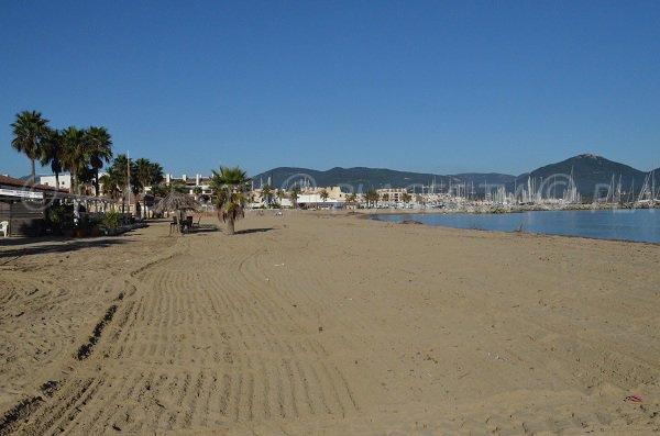 Private beach in the Marina of Cogolin