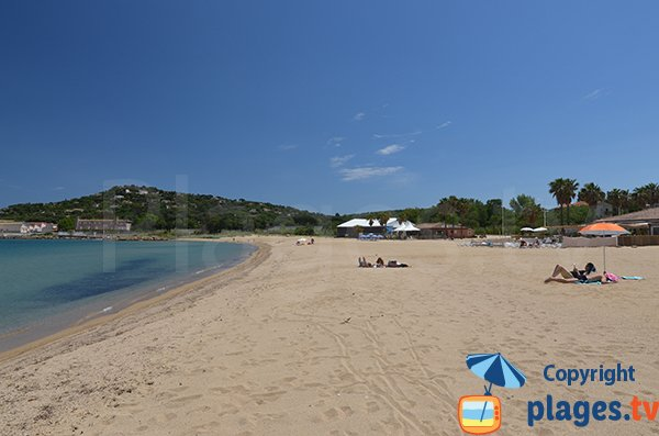Beach near the Cogolin port