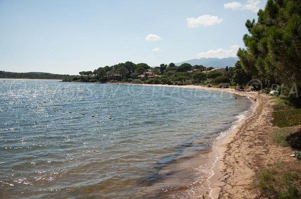 Marina di Fiori beach in Porto-Vecchio (Corsica)