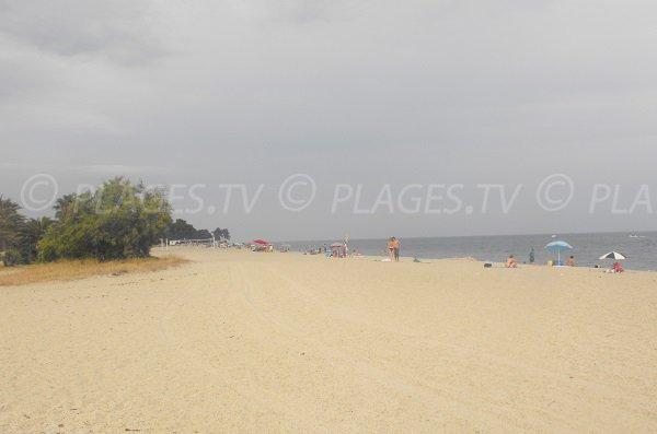 Plage de la Marina d'Oru à Ghisonaccia Corse