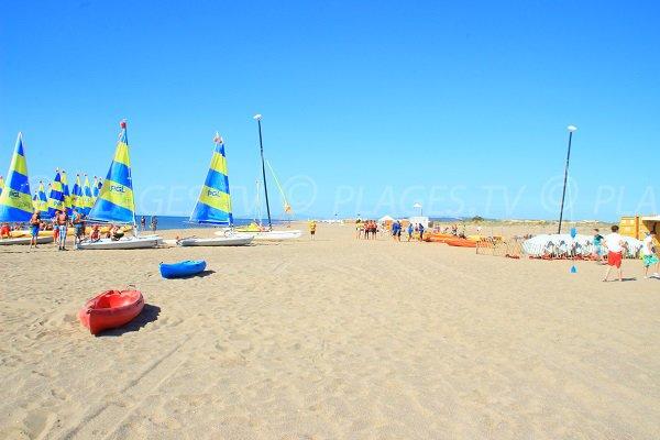 Base nautica della spiaggia Marina a Vendres