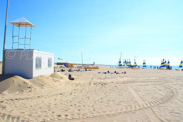posto di soccorso della spiaggia Marina a Vendres