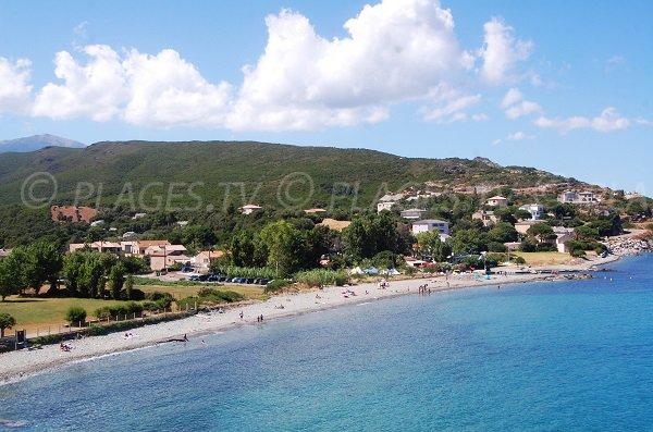 Sisco beach in Corsica