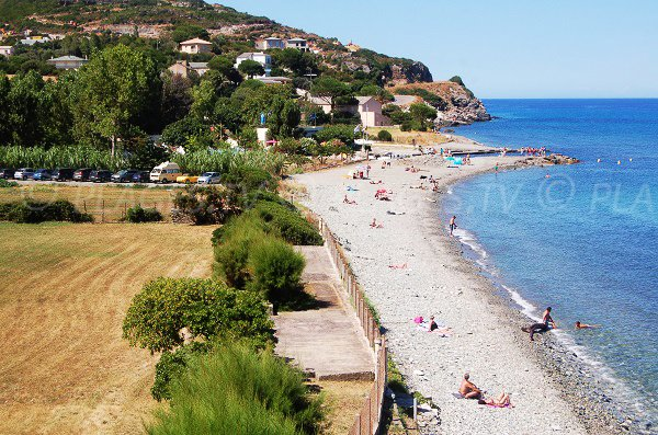 Beach in Sisco next to Bastia with low attendance