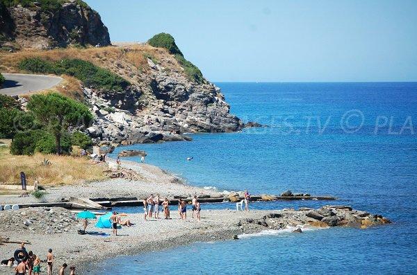 Beach near the Sisco marine - Corsica