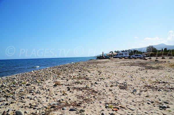 Parking de la plage de Solaro