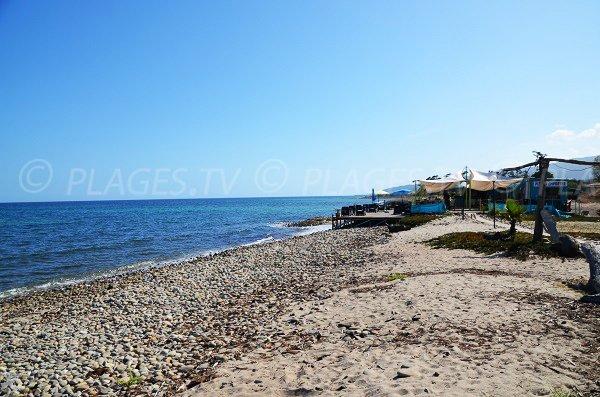 ristorante della spiaggia della Marina di Solaro - Corsica