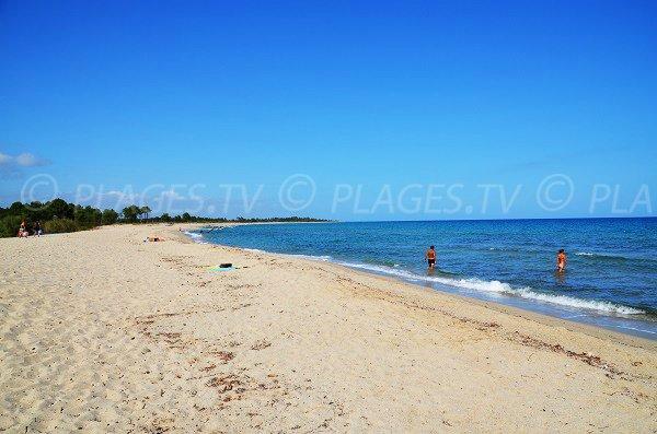 Photo de la plage de la marine de Solaro en Corse