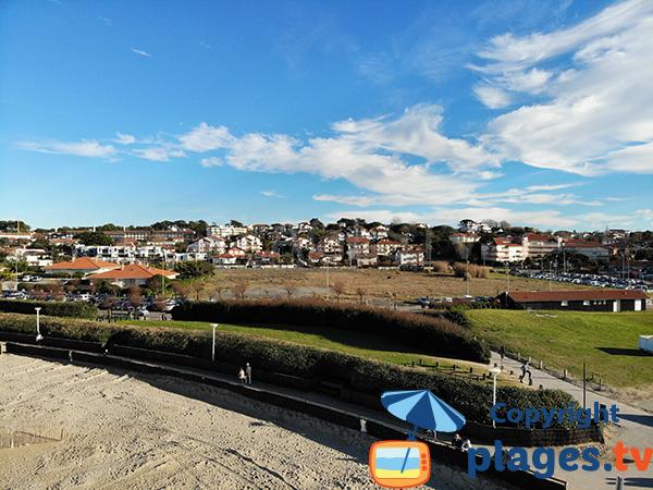 Environnement de la plage de Marinella à Anglet