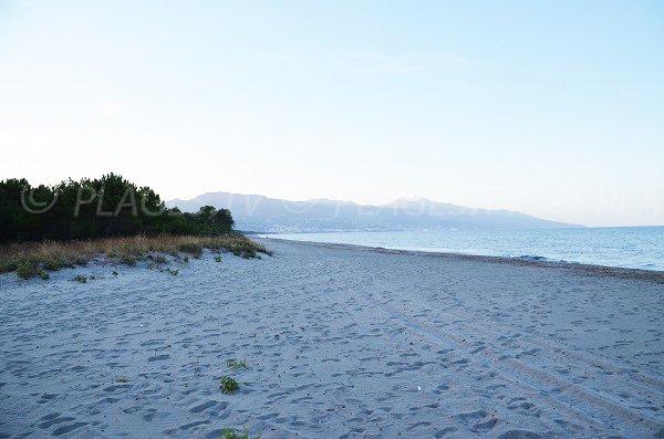 Photo de la plage des Marines de Borgo en direction de Bastia