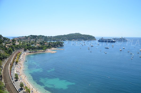 Marinieres beach in the Villefranche bay in France