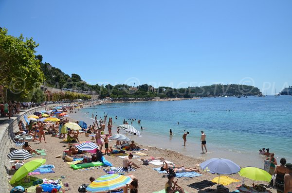 Photo of the Mariniere beach in Villefranche sur Mer in August