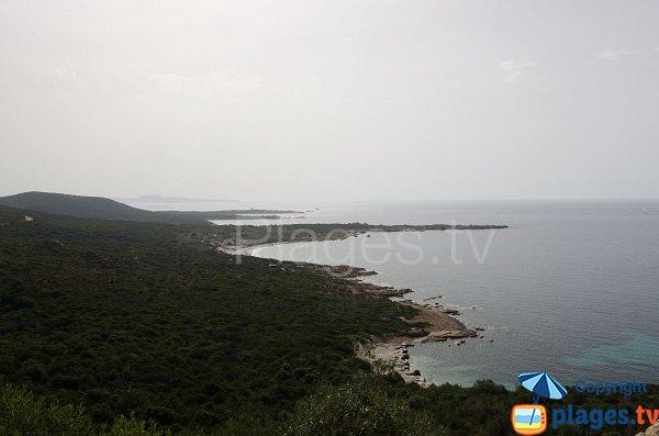 Baia di  Monacia d'Aullène e spiaggia di Mariola