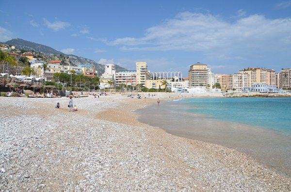 Sand and pebbles beach in Cap d'Ail - Marquet