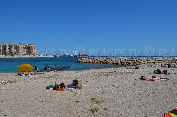 Photo of the Marquet beach in Cap d'Ail (area of Monaco)