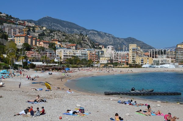 Marquet beach nearly of Monaco
