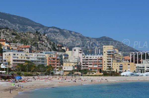 Beach volley on the Cap d'Ail beach