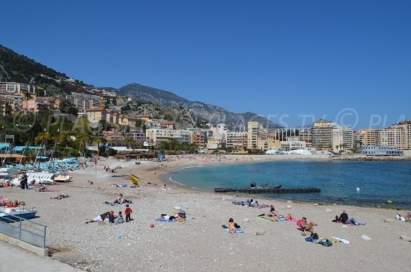 Marquet beach in Cap d'Ail - France
