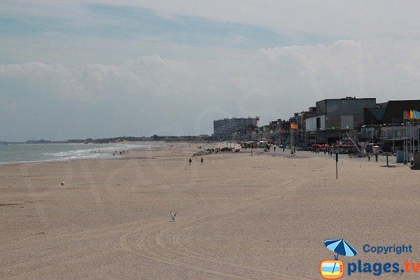 Photo de la plage sud de Dunkerque (Marsouin et Casino)