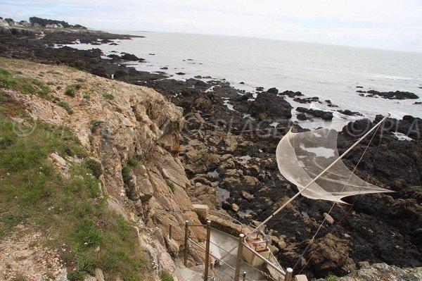 Pêche dans la baie des Marsouins à Pouliguen