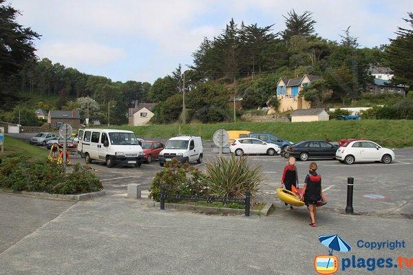 Parking de la plage de Martin à Plérin