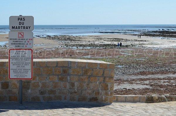 Indication pour la plage du Pas du Martray