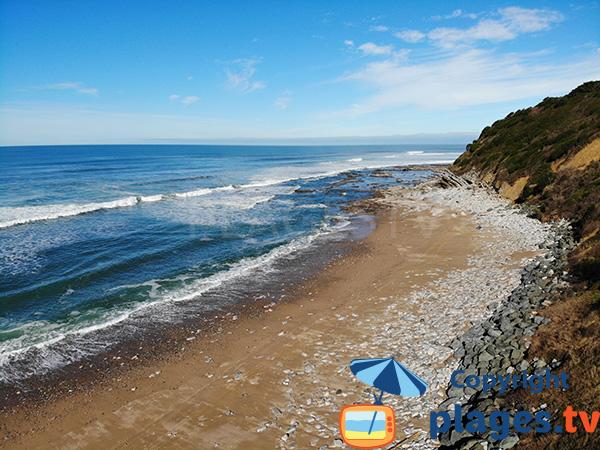 Extrémité de la plage de Mayarco - St Jean de Luz