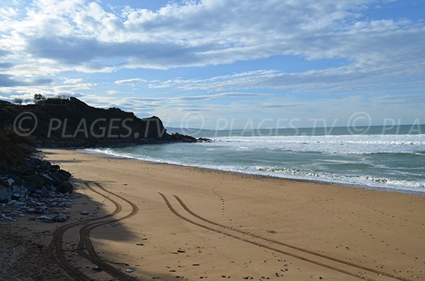Beach with cliffs in Saint Jean de Luz in France