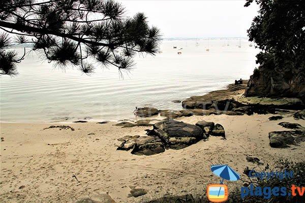 Baignade dans la crique de Mec'hed Yaouank - Fouesnant