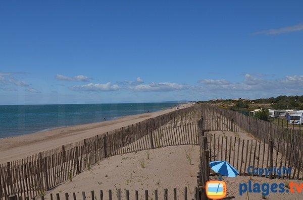 Photo de la plage de la Méditerranee à Vias