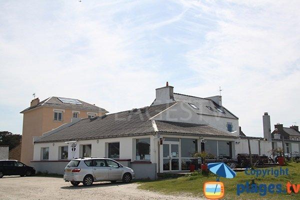 Restaurant à côté de la plage de Melon à Porspoder