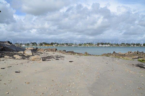 Photo of Men Allen beach in La Trinité sur Mer in Brittany