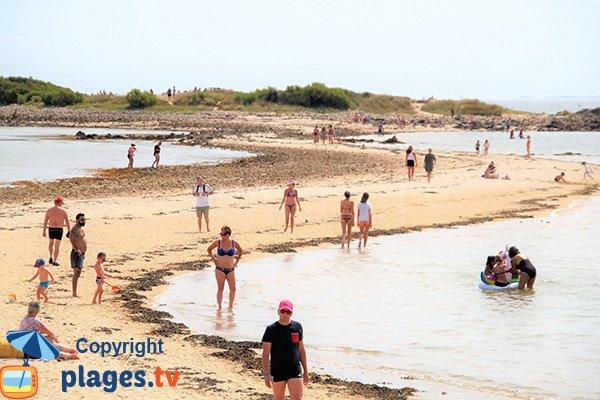 Plage entre la plage de Men Du et l'ile de Stuhan - La Trinité
