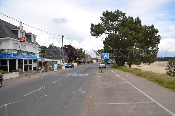 Parking of Men Du beach in La Trinité