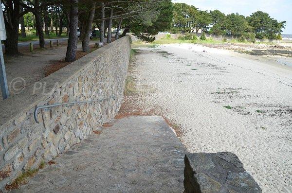 Accès à la plage de Men er Bellec - St Philibert