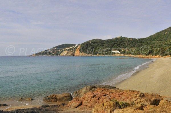 Sand cove in Cargèse