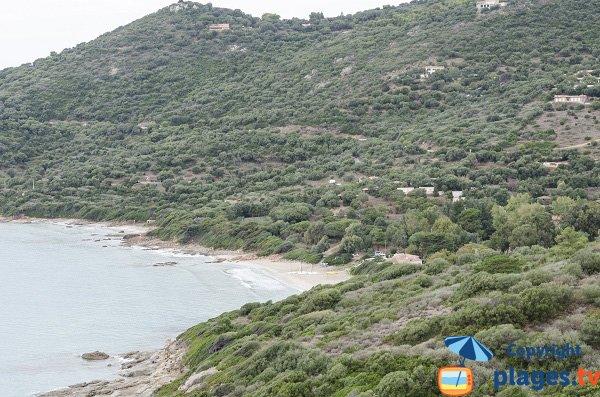 Menasina beach in Cargèse