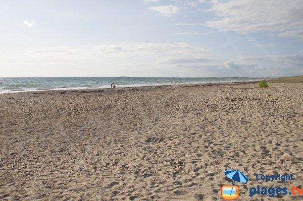 Photo de la plage du Mentor à Plouharnel au nord de Quiberon
