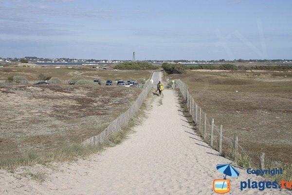 Environnement de la plage du Mentor à Plouharnel