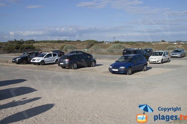 Parking de la plage du Mentor - Plouharnel