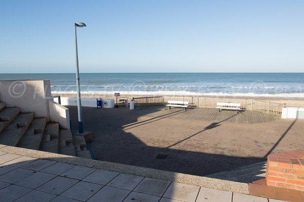 Accès à la plage du centre de Villers sur Mer