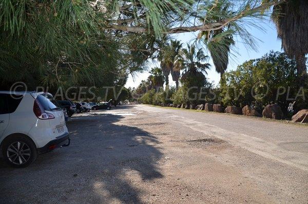 Parking of  Mérou beach